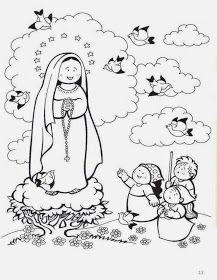Imagenes De La Virgen De Fatima Para Colorear Virgen Maria Para
