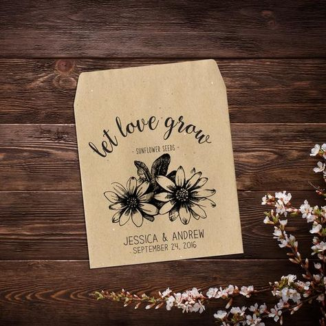 25 Seed Packets, Rustic Wedding Favor, Sunflower #seedpackets #seedfavors #weddingfavors #weddingseedfavor #wildflowerseeds #weddingseedpackets #rusticwedding #bohowedding #weddingfavorsseeds #rusticweddingfavor #sunflowerfavor #seedpacket #seedpacketfavor