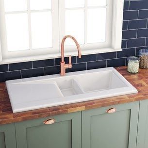 Download Wallpaper White Kitchen Sink That Doesn't Stain