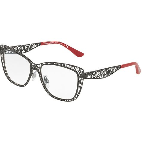 c42077a5cb Dolce   Gabbana Flowers Lace Square Optical Frames ( 400) ❤ liked on  Polyvore featuring accessories