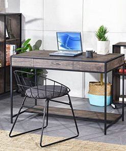 Aingoo Large Writing Desk With Drawer 43x22 Rustic Computer Desk