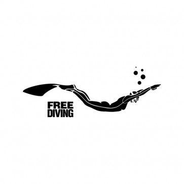"Dive Flag Scuba Diver Bumper Sticker Decal 3.5/"" X 5.5/"""