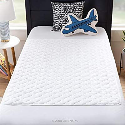 Amazon Com Linenspa 34 X 52 Non Skid Waterproof Sheet Protector With Highly Absorbent Fill L Waterproof Sheets Waterproof Mattress Cover Waterproof Mattress