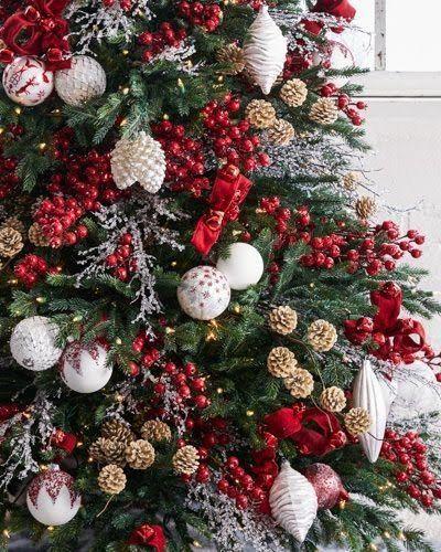 Color de decoración de arbolito de navidad para el año 2018
