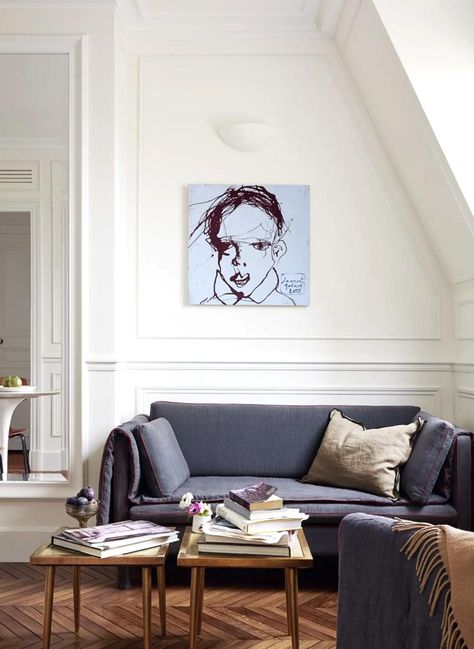 Paris Apartment Interiors, Chic Apartment Decor, Apartment Therapy, Bedroom Apartment, Apartment Layout, Dream Apartment, Paris Bedroom, Home Decor Bedroom, Living Room Decor