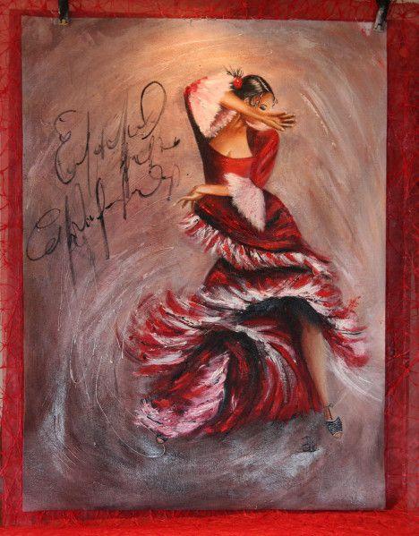 Flamenco Art Puff Delphine Danseuse De Flamenco Flamenco Peinture