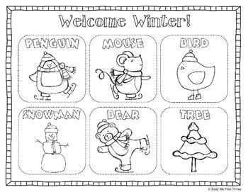 Welcome Winter Coloring Pages Collection
