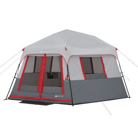 Ozark Trail 8 Person Instant Hexagon Tent With Led Lights Walmart Com Tent Cabin Tent Ozark Trail