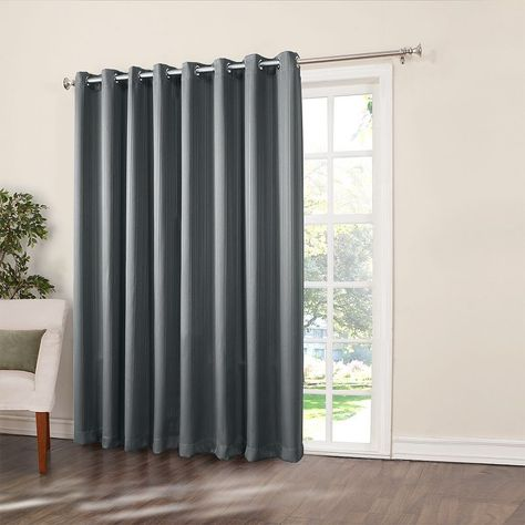 Home Classicsa Ethan Blackout Patio Door Curtain 108 X 84 Grey Patio Door Curtains Home Curtains