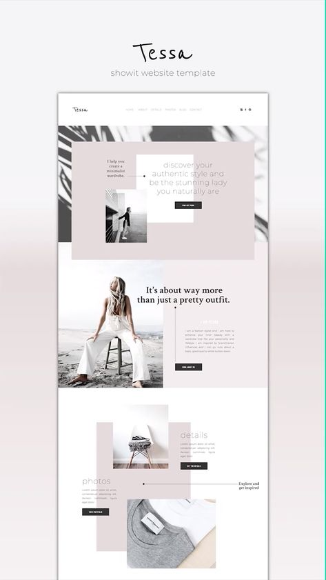 Showit Website Template Tessa