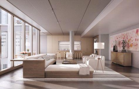 modernes Wohnzimmer Kupfer Farbakzente Laminatboden | Möbel ...