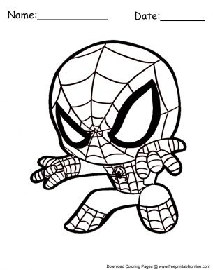 Spiderman Coloring Pages Cute Spiderman Coloring Coloring Pages Coloring Pages For Kids