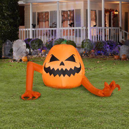 Halloween 2020 Inflating Pumpkin Opening AIRBLOWN INFLATABLE Crawling Pumpkin Monster in 2020 | Halloween