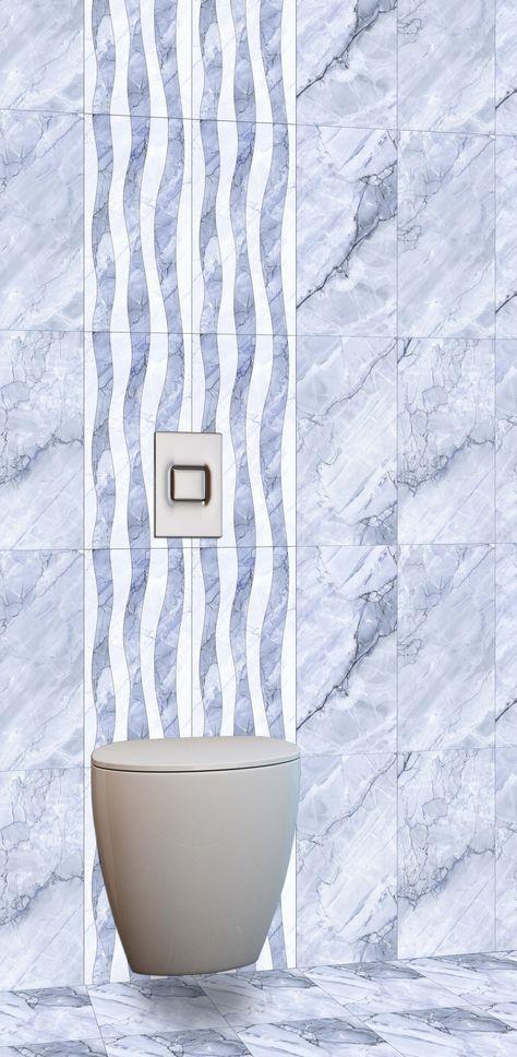 Blue color Bathroom tiles - http://www.orientbell.com/bathroom-tiles.php