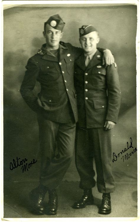 Alton More and Don Moone.  [Note from Rick Lewis: Alton Moore was from Wyoming.]