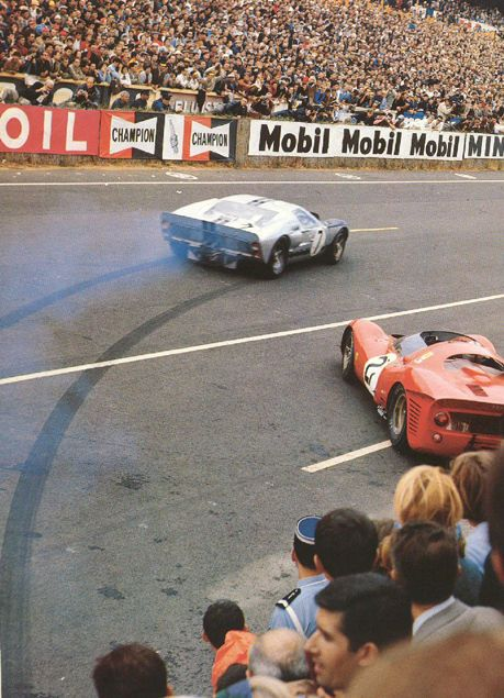 Lemans 1966 The Start Le Mans Ford Gt40 Ford Gt