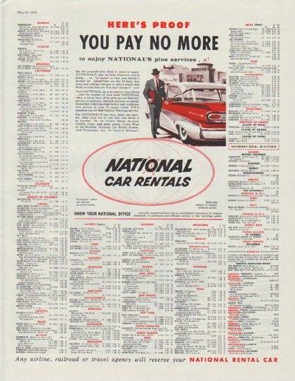 national car rental sales