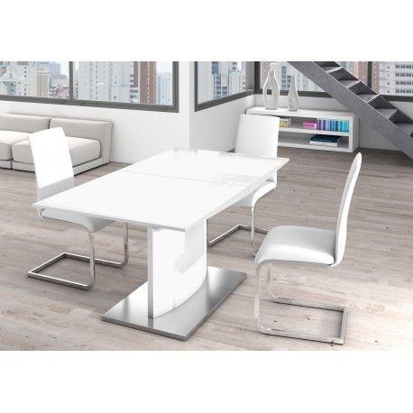 Mesa De Comedor Extensible Minimalista Color Blanco Mesas De Comedor Extensibles Comedor Moderno Minimalista Mesas De Comedor Modernas