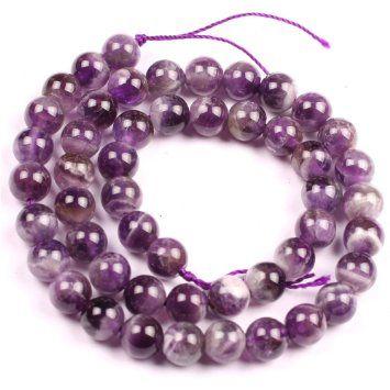 8mm Amethyst Gemstone Round Beads Strand 15inch