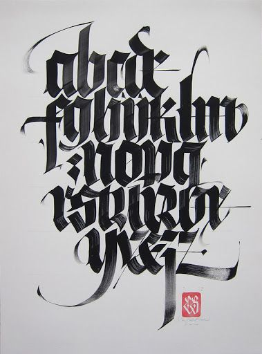 45 Beautiful Examples Of Blackletter And Gothic Calligraphy アルファベット文字 文字 レタリングのスタイル