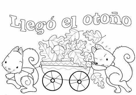 Menta Mas Chocolate Recursos Y Actividades Para Educacion Infantil Otono Dibujos De Otono Dibujos Para Colorear Imagenes De Otono