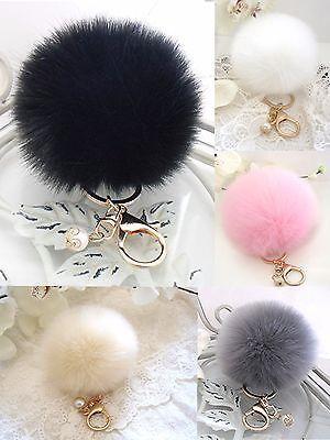 Neu Tasche Schlüssel Anhänger Kaninchen Pelz Fell Handtasche Key Chain