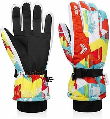 Lapulas Kids Winter Gloves Ski Gloves Girls Snow Gloves Toddler Gloves Waterproof Boys Gloves 3M Thinsulate Warm Gloves
