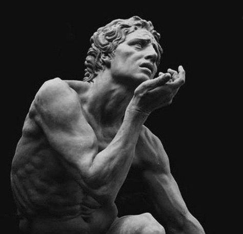 In this picture of a sculpture idealism is shown because the statue was a conscious attempt to discover the idal proportions of the human body. The sculpture represents a element of perfection that nature cannot achieve. Roman Sculpture, Art Sculpture, Michelangelo Sculpture, Bernini Sculpture, Sculpture Ideas, Anatomy Sculpture, Bronze Sculpture, Garden Sculpture, Sculpture Romaine