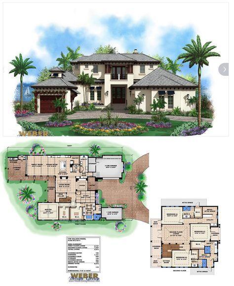 Caribbean House Plan 2 Story Coastal Contemporary Floor Plan Beach House Plans Craftsman House Plans Caribbean Homes