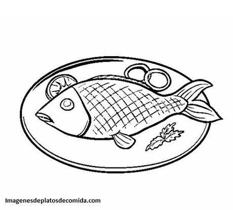 Cuatro Dibujos De Comidas Tipicas Del Mundo Para Colorear Paperblog Dibujo Pescado Alimentos Para Colorear Pescado