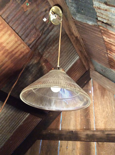 Vintage Holophane Pendant Lamp Chandeliers