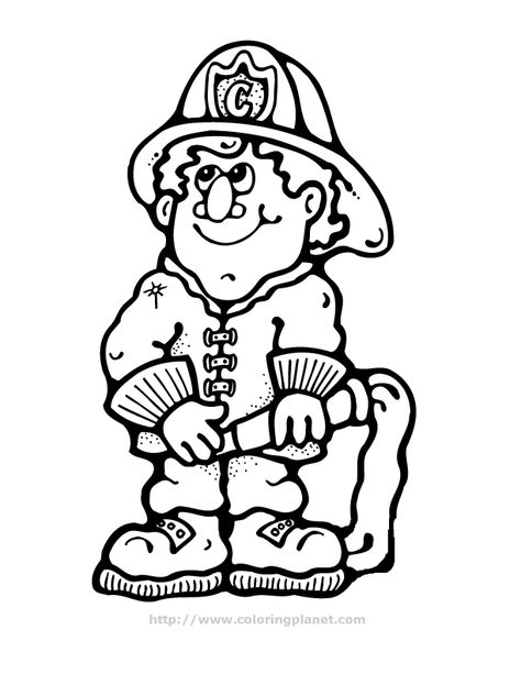 Download And Print These Fireman Coloring Sheet Coloring Pages For Free Description From Azcoloring Com I S Coloring Book Art Fire Man Birthday Party Fireman
