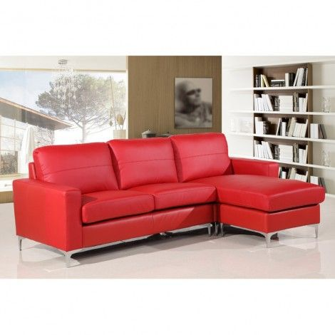 Vibrant Red Leather Sofa | Living Room | Red leather couches ...