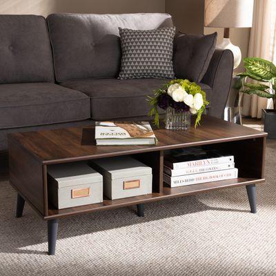Tremendous Silvester Brown Dark Gray Coffee Table In 2019 Cinnamon Machost Co Dining Chair Design Ideas Machostcouk