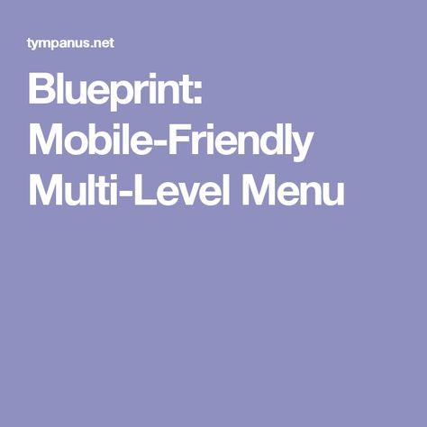 Blueprint Mobile-Friendly Multi-Level Menu WEB Pinterest - new blueprint sites css