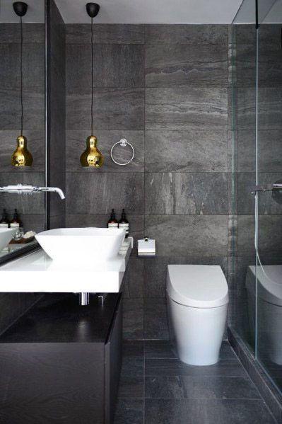 Grey Small Bathroom Tile Designs
