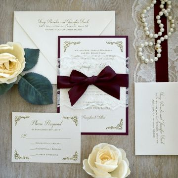 Marsala 2019 Most Popular Wedding Colors For Fall And Winter Wedding Invites Paper In 2020 Spring Wedding Invitations Lace Wedding Invitations Wedding Invitations