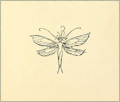 Fairy marginalia graphic by Arthur Rackham - Peter Pan in Kensington Gardens Tattoos Fairy Tattoo Designs, Design Tattoo, Tattoo Designs For Women, Arthur Rackham, Gothic Fairy Tattoo, Faerie Tattoo, Witch Tattoo, Zealand Tattoo, Muster Tattoos