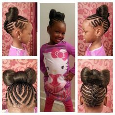 Braiding hairstyles for black kids | hairstyles | Pinterest | Black ...
