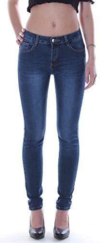 Damen Übergrößen Hochschnitt Jeans Hose Stretch High Waist