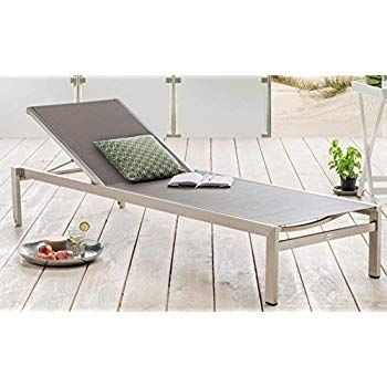 Amazon De Destiny Rolliege Liege Macao Edelstahl Textilene Komfortliege Relaxliege Gartenliege Relaxliege