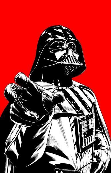 Red Darth Vader 11x17 Art Print Star Wars Poster Vader Star Wars Star Wars Wallpaper