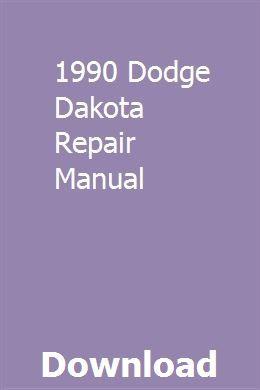 1990 Dodge Dakota Repair Manual Repair Manuals Owners Manuals Repair