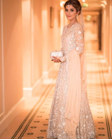 """""""Here is our gorgeous client @natashapetafi glowing at her Valima in a customised #MinaHasan Bridal all the way in the UK. We love working with clients to…"""""""