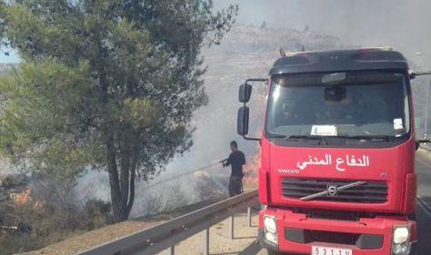 الدفاع المدني في الضفة الغربية يؤكد أن طواقمهم تعاملت مع 310 حوادث حريق منذ صباح الخميس