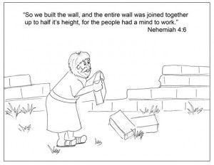 nehemiah crafts for children Coloring Page Activity time approx
