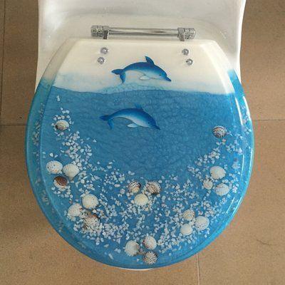 Daniels Bath Sea Treasure Decorative Round Toilet Seat Wayfair In 2020 Elongated Toilet Seat Toilet Seat Baby Bath Seat