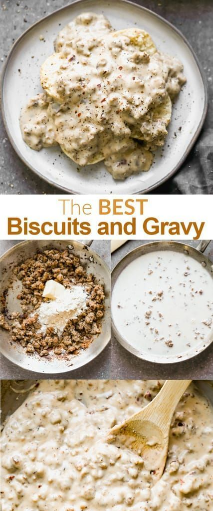 best ever biscuits and gravy recipe in 2020 best biscuits and gravy easy biscuits and gravy sausage gravy and biscuits pinterest