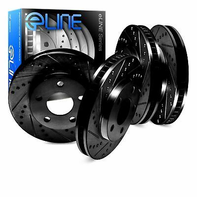 Sponsored Ebay Black Edition Eline Front Rear Drilled Slotted Performance Brake Rotors D1315 In 2020 Performance Brakes Ceramic Brake Pads Brake Rotors