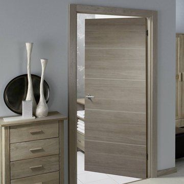 Laminate Santandor Light Grey Fire Door 1 2 Hour Fire Rated Prefinished In 2020 Grey Interior Doors Door Design Interior Flush Door Design